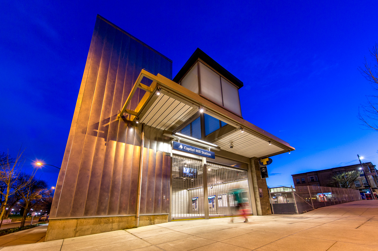 Sound Transit's Capitol Hill Station, prior to opening, 7 March 2016.